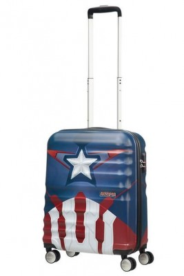 American Tourister, Marvel Trolley Bagaglio a Mano Captain America Close-Up 31C*22002